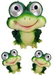 Frog Solar Powered Garden Yard Stake Lights Pack Of 2  Free Solar Frog Lights