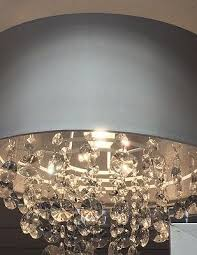 1 of 2free new large silver grey pendant light shade beads droplet chandelier ceiling