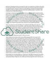 meeting the challenge of supervisory time and stress management essay meeting the challenge of supervisory time and stress management essay example
