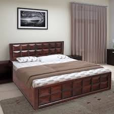 florence acacia wood box storage queen size bed in walnut colour by hometown at best hometown in