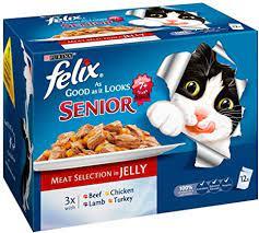 Amazon.com : Felix Good As It Looks Senior Meat Selection In Jelly 12 x  100g (bulk Deal Of : Pet Food : Pet Supplies
