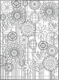 Lovely Garden Flowers Stained Glass Coloring Book Or Garden Flowers