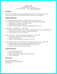 Computer Resume Skills Simple Junior Civil Site Engineer Resume Sample For Mechanical Engineering