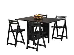 luxurious black dining table with chairs folding dining table and chairs ikea folding dining table