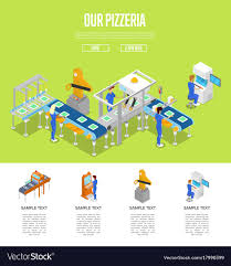 Assembly Line Design Assembly Line Isometric 3d Poster