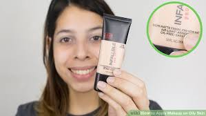 image led apply makeup on oily skin step 6