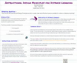 Instructional Design Course Outline Instructional Design Principles For Distance Learning Pbs