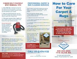Cleaning Brochure Carpet Cleaning Tile Cleaning Water Damage Brochures