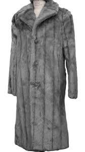 canto men s faux fur coat full length fashion coat tap to expand