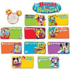 Classroom Helpers Chart Mickey Mouse Clubhouse Handy Helpers Job Chart Mini Bbs