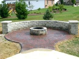 paver patio designs with fire pit steps