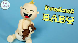 How To Make Fondant Baby Cake Topper Cake Decorating For Begginers