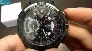 guess black chrono mens watch w18540g1 e oro gr