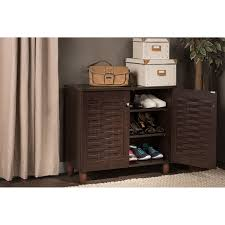 Amazon.com: Wholesale Interiors Baxton Studio Winda Modern and Contemporary  2-Door Dark Brown Wooden Entryway Shoes Storage Cabinet: Kitchen & Dining