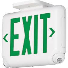 2 light thermoplastic led emergency unit exit combo