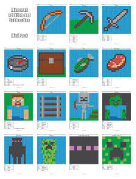 Small Picture Minecraft Addition and Subtraction Coloring Squared