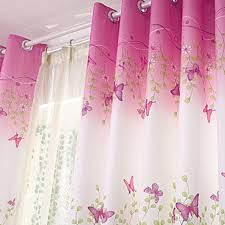eyelet curtains flower erfly pink kid baby bedroom curtain new