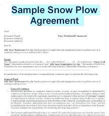 Snow Removal Bid Template Snow Removal Rfp Template Bid Best Of Plow Agreement Fresh