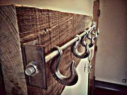 Rustic Coat Rack Interesting Industrial Rustic Coat Hooks Build It Yourself Misc Pinterest