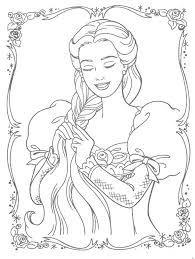 Rapunzel Disney Princess Coloring Pages Free Printable Coloring
