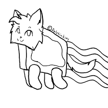 Small Picture Nyan Cat Coloring Pages With glumme