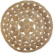 house home round jute rug brown
