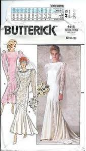Mermaid Dress Pattern Custom B 448 Sewing Pattern Mermaid DRESS Sew Bridal Wedding GOWN Sizes 48