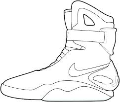 Jordan Sneakers Coloring Pages At Getdrawingscom Free For