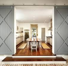 barn door kitchen double doors dining room rustic with steel wooden  standard height tables farmhouse and . barn door kitchen ...