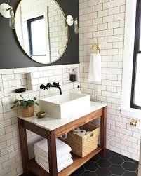 Basic open wood frame base with an Ikea Tyngen ($50) sink on top ...