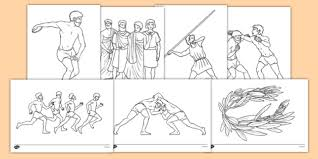 Ancient Olympics Colouring Pages Ancient Olympics Colouring Sheets