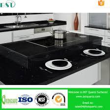 black galaxy cut to size artificial quartz countertop for kitchen