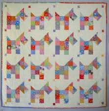 Cute Christmas Scottie Dog Quilt - Bitsy Button & Friends pattern ... & Sweet little scottie dogs, as scrappy as can be. Quick and fun and easy ·  Vintage Quilts PatternsCrochet ... Adamdwight.com