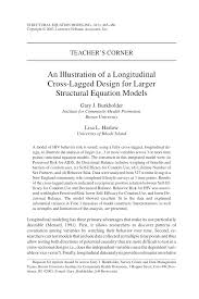 pdf an ilration of a longitudinal cross lagged design for larger structural equation models