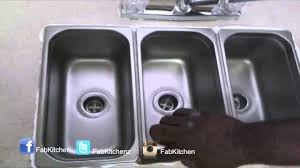 3 Compartment Drop In Kitchen Sink Youtube