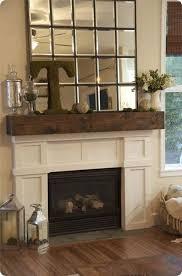 fabulous diy faux antique barnwood mantel mantle mantels and living rooms