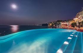 infinity pool night. Excelsior Palace Hotel: Infinity Pool By Night V