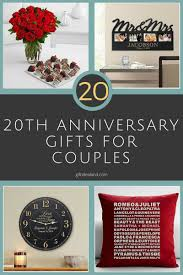 20 best 20th wedding anniversary gifts for couples husband wife mom dad him her