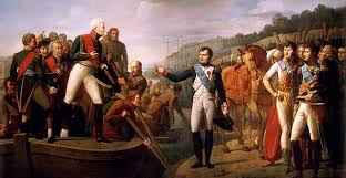 Отечественная война года Прощание Наполеона с Александром i в Тильзите в 1807 году Дж Серанжели