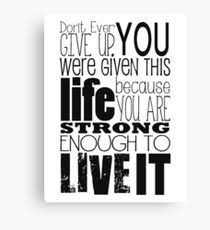 don t ever give up canvas print on inspirational quote canvas wall art with inspirational quote canvas prints redbubble