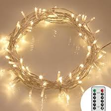outdoor christmas led lights battery operated. [remote \u0026 timer] 40 led outdoor fairy lights - 8 modes battery operated string christmas led