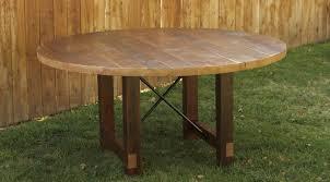 charming salvaged wood dining table 19 round pedestal base jpg v 1445921059