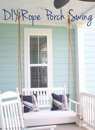 Diy Rope Porch Swing Put Together The Perfect Hanging Seat On Your Southern Front Porch Diy Porch Swing Porch Swing Diy Porch