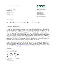 Job Letter Of Recommendation Example Employee Recommendation Letter