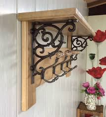 Country Style Coat Rack Vintage Style Coat Rack With Shelf Solid Oak Wood Country Barn 11