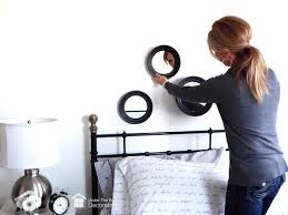 Mirror grouping on wall Hanging The Dormy House How To Hang Mirror Grouping