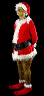 lot268 grinch jim carrey santa costume display how the grinch stole
