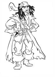 Jack Sparrow Kleurplaat Gratis Kleurplaten Printen