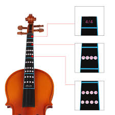 Violin Note Chart Us 1 25 30 Off New 2pcs 4 4 Scale Violin Fiddle Fingerboard Finger Guide Label Stickers Note Chart Black In Violin Parts Accessories From Sports