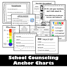 Counseling Anchor Charts The Responsive Counselor